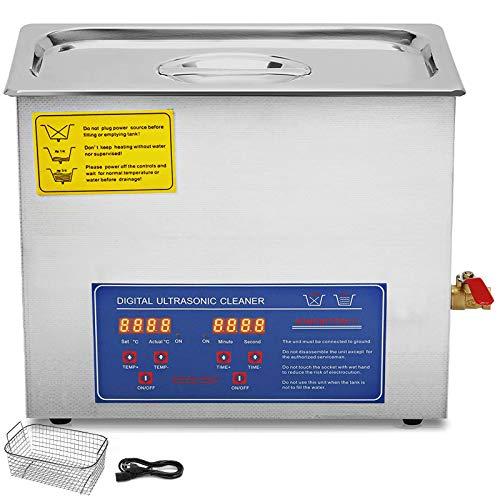 VEVOR Nettoyeur A Ultrasons Ultrasonic Cleaner Professionnel Nettoyeur Digital Affichage Ultrasonique (6L)