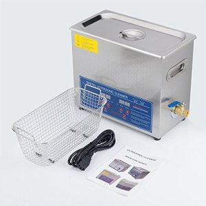 Sfeomi Nettoyeur à ultrasons numérique avec minuterie numérique, machine à ultrasons pour nettoyage en acier inoxydable, 6L, 1