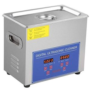 3L Machine de Nettoyage à Ultrasons en Acier Inoxydable, 220V Nettoyeur à Ultrasons avec Affichage Numérique de la Température et du Temps pour Le Nettoyage des Bijoux Lunettes Dentures Injecteurs