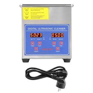 Cocoarm 1.3L Nettoyeur à Ultrasons Machine de Nettoyage à ultrasons Laveuse à ultrasons numérique d'acier Inoxydable Nettoyeur numérique Ultra sonique Professionnelle Prise UE 220V