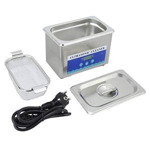 Cocoarm 800ML Nettoyeur à Ultrasons Machine de Nettoyage à ultrasons Laveuse à ultrasons numérique d'acier Inoxydable Nettoyeur numérique Ultra sonique Professionnelle Prise UE 220V