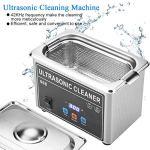 Machine de nettoyage à ultrasons, nettoyeur à ultrasons à fréquence 42KHZ, panneau de commande numérique, contrôle par micro-ordinateur 18 créneaux horaires, pour le nettoyage(EU PLUG 220V-240V)