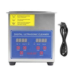 Nettoyeur à ultrasons 1,3 L, avec minuterie et chauffage, pour nettoyer les bijoux, les lentilles et autres pièces optiques