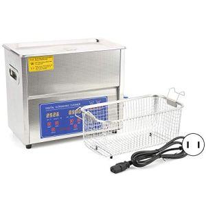 Nettoyeur à ultrasons, appareil de chauffage de nettoyage de bain à réservoir ultra sonique 6L avec affichage numérique MH-031X(EU Plug AC200-240V)