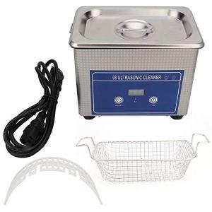 Nettoyeur à ultrasons professionnel 800Ml, nettoyeur à ultrasons avec 18 modes de temps, utilisation domestique et commerciale pour les bijoux, lunettes, montres, bagues, colliers, pièces de monnaie,