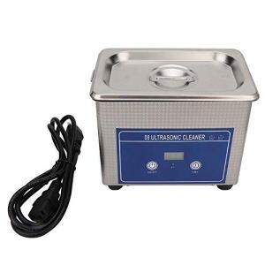 PS-08 Nettoyeur à ultrasons en acier inoxydable avec panier de table 800 ml