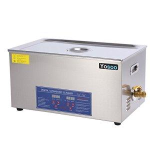 Zerone Nettoyeur à ultrasons Machine professionnelle avec nettoyeur à ultrasons et dents en acier inoxydable Réglage du compteur de temps du chauffe-eau 22L