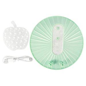 Autuncity ABS, Technologie à ultrasons, Portable, Chargement USB, Nettoyeur à ultrasons ménager, Vert Macaron, Lave-Vaisselle, pour la Vaisselle de Nettoyage des légumes