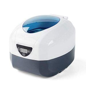 DaMi Nettoyeur Ultrason 5 Temps RéGlable, Ultrasonic Cleaner Commande NuméRique LED avec FenêTre Transparente, Machine Nettoyage Bijoux pour Lunettes, Bracelets, Montres