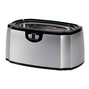 QYT-Nettoyeur à Ultrasons, Appareil Nettoyage Ultrasons Machines de Nettoyage pour Nettoyer Bijoux/CD/Lunettes/Bracelet (420ML),Argent