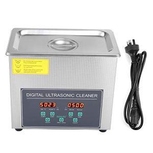 Cocoarm 3L Nettoyeur à ultrasons Machine de Nettoyage à ultrasons numérique à Double fréquence Nettoyeur ultrasonique numérique en Acier Inoxydable Réservoir de Nettoyeur à ultrasons 220V