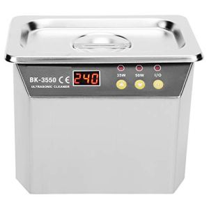 Eujgoov nettoyeur à ultrasons LED affichage à diode 3-5 minutes pour bijoux montres anneaux lunettes Machine à laver(EU Plug 220V)