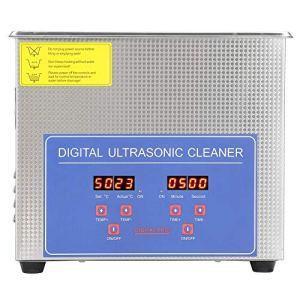 GOTOTOP Nettoyeur à ultrasons 3L, Machine de Nettoyage à ultrasons Domestique en Acier, pour Nettoyer Les Bijoux Lunettes Montres Dentiers Ustensiles CD