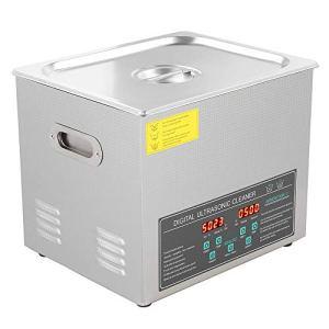 Nettoyeur à ultrasons 10 L en acier inoxydable 220 V Nettoyeur Ultrasonique à double fréquence Plateau de table Nettoyeur à ultrasons avec affichage LED température constante de 20 à 80 °C