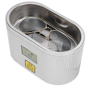 Nettoyeur à ultrasons, Machine de nettoyage à ultrasons, Mini machine de nettoyage à ultrasons pour prothèses dentaires 600 ml(UE)