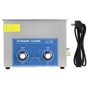 Nettoyeur à ultrasons Machine de réservoir de nettoyage chauffée industrielle en acier inoxydable avec panier Prise EU(15L)