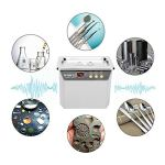 Nettoyeur à ultrasons SALUTUYA, acier inoxydable haute puissance 35W / 50W pour bijoux montres anneaux Machine à laver BK-3550 0.8L(Prise UE 220V)