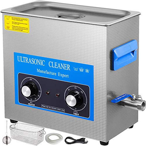 VEVOR Nettoyeur à Ultrasons avec Minuterie de Chauffage, Professionnel Nettoyeur à Ultrasons 220V, Nettoyeur Ultrasons en Acier Inoxydable 40 kHz pour Nettoyage des Bagues de Lunettes Instrument (30L)