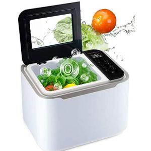 ADELALILI Nettoyeur à ultrasons Ozone à ultrasons Professionnel avec minuterie numérique for Le Nettoyage de légumes Fruits stérilisateur Accueil Utilisation