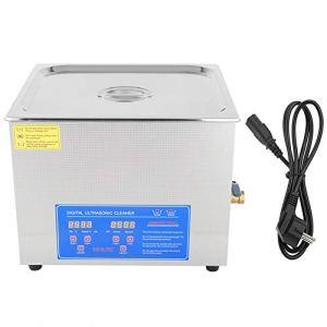 15L Nettoyeur à ultrasons Machine de nettoyage à ultrasons numérique Nettoyeur ultrasonique numérique en acier inoxydable Réservoir de nettoyeur à ultrasons Nettoyeur de bijoux 220V