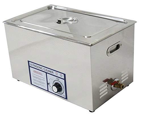 CGOLDENWALL Nettoyeur à ultrasons professionnel en acier inoxydable pour pièces métalliques et injecteur de carburant PS-100T 30 L