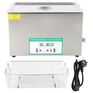 DK-1027HTD Nettoyeur à Ultrasons Industriel Commercial Machine de Nettoyage Ultra Sonique Réservoir Bain Nettoyage Chauffage Minuterie 30L 220 V(Eurocode 220V)