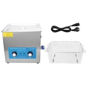 Machine à laver à ultrasons, nettoyeur à ultrasons 820HT 22L. Machine de nettoyage à ultrasons à chauffage mécanique(Prise UE 200-240v)