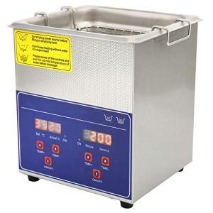 Minuterie de Chauffage en Acier Inoxydable de Machine de Nettoyeur à Ultrasons Professionnel de Laveuse à Ultrasons Numérique PS-08A(EU Plug 220V)