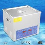 Nettoyeur à ultrasons 10L avec minuterie et chauffage numériques, nettoyeur de bijoux, machine de nettoyage à ultrasons à domicile pour lunettes montres bagues de bijoux, prise UE 220V