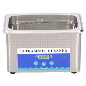 Nettoyeur à Ultrasons de Minuterie D'acier Inoxydable de Machine à Laver Ultrasonique de 0.9L 55W pour le Nettoyage D'anneaux de Bijoux(EU Plug)