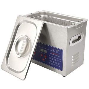 Nettoyeur à Ultrasons PS-20A 3.2L avec Minuterie de Chauffage Machine de Nettoyage à Ultrasons en Acier Inoxydable 304 pour Nettoyage de Lunettes Bijoux Montre Petites Pièces(EU Plug 220V)