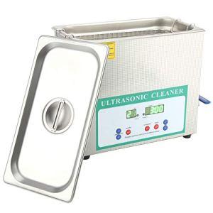Nettoyeur de bijoux à ultrasons, machine de nettoyage d'anneau en acier inoxydable pratique pour lunettes(AC220V European plug)