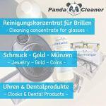 PANDACLEANER® Produit nettoyant pour bain à ultrasons – Concentré pour lunettes, bijoux, produits dentaires, or, pièces de monnaie, verre, montres (étanches), etc. | 1L, 2L, 3L