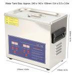 PS-20A 3.2L nettoyeur à ultrasons de Machine à laver à ultrasons pour le nettoyage des lunettes de bijoux regarder de petites pièces avec des équipements de nettoyage(EU Plug AC 220V)