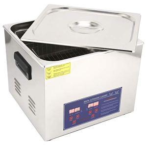PS-60A 15L Nettoyeur à Ultrasons Machine à Laver à Ultrasons Equipement de Nettoyage Température de Puissance Constante Affichage Numérique Minuterie Chauffage(EU Plug AC220V)