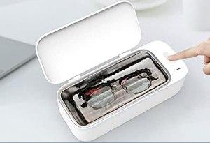 ZZX Nettoyant pour Bijoux 450 ML, Nettoyeur à ultrasons avec Panier de Nettoyage pour Pendentif de Bijoux, Lunettes, Montres, pièces de Monnaie en métal, prothèse et Plus