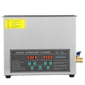 Digital 6L Nettoyeur à ultrasons Nettoyeur à ultrasons avec panier avec minuterie et panier pour lunettes