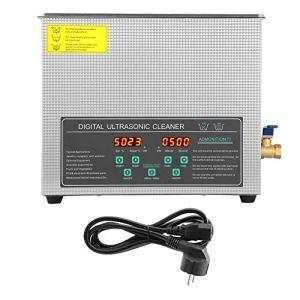 Ejoyous Nettoyeur à ultrasons numérique à Double fréquence d'acier Inoxydable de Machine de Nettoyage à ultrasons 6L a mené l'affichage 220v