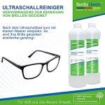 ferdoclean® 1 L de concentré de nettoyage à ultrasons   Nettoyeur à ultrasons 1000 ml pour appareils à ultrasons pour le nettoyage des lunettes, des bijoux, des têtes de rasage