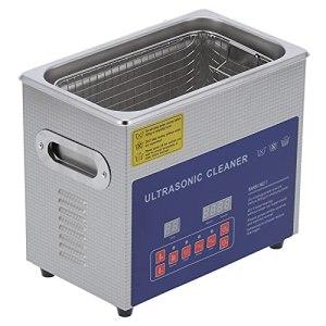 Machine de Nettoyage à Ultrasons Eujgoov MH-020G 3L Nettoyeur à Ultrasons Numérique avec Chauffage pour Lunettes, Montre et Bijoux(EU Plug)