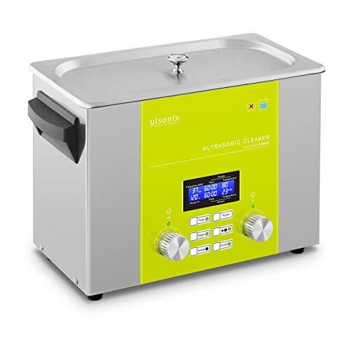 Ulsonix Nettoyeur À Ultrasons Bain Ultrason Bac Sonicateur Cuve Machine Ultrason PROCLEAN 4.0DSP (4 litres, Puiss. Ultrason 160 W, Puiss. Chauffe 220 W, 37 kHz, Minuterie, Degas, Pulse, Sweep, Inox)