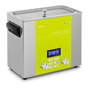 Ulsonix Nettoyeur À Ultrasons Bain Ultrason Bac Sonicateur Cuve Machine Ultrason PROCLEAN 6.0DSP (6 litres, Puiss. Ultrason 240 W, Puiss. Chauffe 270 W, 37 kHz, Minuterie, Degas, Pulse, Sweep, Inox)