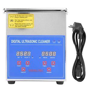 Wakects Nettoyeur à ultrasons numérique, 2 L Nettoyeur à ultrasons en acier inoxydable avec minuteur numérique, nettoyage des bijoux pour usage domestique domestique domestique