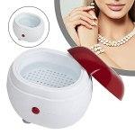 ATING Mini nettoyeur à ultrasons numérique pour le bain, bijoux, lunettes