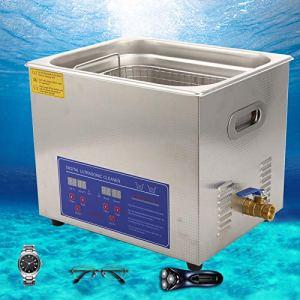 Ausla Machine de Nettoyage de Bijoux, Fonction de Chauffage 10L Nettoyeur à ultrasons pour Bijouterie pour matériel de Nettoyage