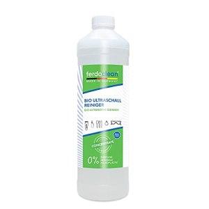 ferdoclean® concentré de nettoyant à ultrasons bio 1000ml | Nettoyeur à ultrasons pour appareils à ultrasons pour le nettoyage de lunettes, bijoux, pièces de monnaie, produits dentaires