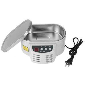 LANTRO JS – Nettoyeur à ultrasons 600ml 40KHz Réservoir de nettoyage à synchronisation réglable 220V Mini taille