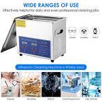 SEAAN Machine de nettoyage à ultrasons, petit nettoyeur à ultrasons numérique d'équipement de nettoyage à ultrasons industriel pour les pièces métalliques de bijoux et les laboratoires (3L)