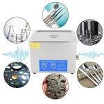 15L numérique en acier inoxydable nettoyeur à ultrasons chauffe-bain minuterie de réservoir chaleur haute puissance EU Plug 220V adapté aux produits électroniques matériel mécanique raccord industrie