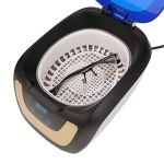 Cerlingwee Nettoyeur numérique, Applications étendues Technologie de Nettoyage à ultrasons Bouton Tactile de Nettoyeur à ultrasons pour Nettoyer Toutes Sortes d'articles
